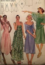 NEW VINTAGE 1970s 'BUTTERICK' DRESS CAPELET SCARF PATTERN 5420 SIZE 10 32 1/2""