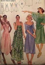 """NEW VINTAGE 1970s 'BUTTERICK' DRESS CAPELET SCARF PATTERN 5420 SIZE 10 32 1/2"""""""
