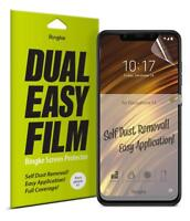 For Xiaomi Pocophone F1 Screen Protector Ringke [Dual Easy Film] Full Cover 2pcs