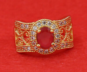 New Pretty Jewelry 2.31ct Natural Ruby 14k Solid Yellow Gold Ring Size 8