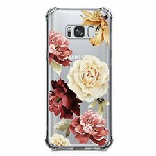 Basic Cases Galaxy S8 Case Crystal Clear With Design Rose Flowers Pattern Print