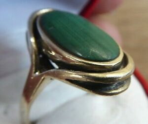 BEAUTIFUL VINTAGE SOLID SILVER MOUNTED RING WITH STONES // SIZE R