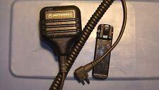 Motorola GP300 CP200 acc's, lot of 2 items: Speaker Mic HMN9725D & Belt Clip