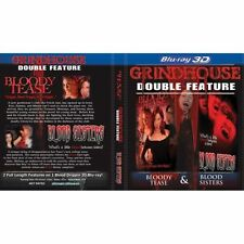 GRINDHOUSE BLOODY TEASE + BLOOD SISTERS BLU RAY 3D NEW! VAMPIRE, HALLOWEEN SCARE