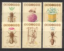 Pologne 1987 abeilles/Insectes/NATURE/FLEURS 6 V Set b10047