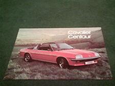 1978 KJ groupe Vauxhall Cavalier Centaur Cabriolet 4 page dossier de brochure