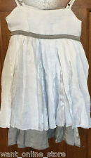 WILLOW & FINN Party Dress Girls Sz 2-3 years White & Silver NWT Beautiful