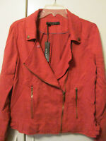 """Max Jeans 100% Tencel """"Valley of Fire"""" Red """"Moto"""" Style Jacket Size M L NWT $99"""