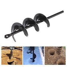 Planting Auger Spiral Hole Drill Bit Garden Yard Bulb Earth Planter Tool Black