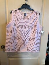 City Streets Sleeveless Top Size XL Pink