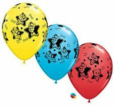 """10 pc 11"""" Paw Patrol Pups Party Latex Balloons Happy Birthday Chase Ryder Skye"""