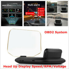 Head Up Display Speed Alarm/RPM/Voltage  Hud OBD2 GPS Projector Fault Code Scan