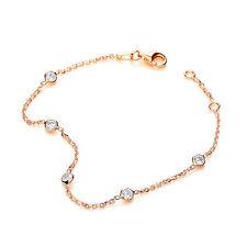 J-Jaz Gold plated Cubic Zirconia five stone Sterling silver Ladies Bracelet