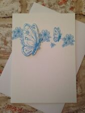 Bluebutterfly greeting card blank birthday special occasion
