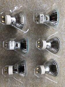 6 GU10 50w Halogen Bulbs 240v CE