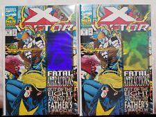 Marvel Comics X-Factor #92 Regular & Recalled Blue Error Variant Rare! (1993)