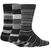 3 Pairs of Mens Giovanni Cassini BERLIN Striped Cotton Socks, UK Size 6-11