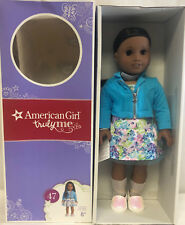 "American Girl TRULY ME 18"" DOLL #47 WITH EARRINGS Floral Dress Jacket DN47"