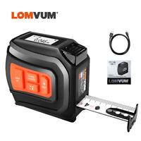 LOMVUM Digital Laser Tape Distance Meter Real-Time Data Rangefinder USB Charge