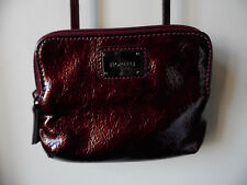 Fiorelli Small Burgundy Patent Crossbody/Shoulder Bag Two Zipped Sections VGC