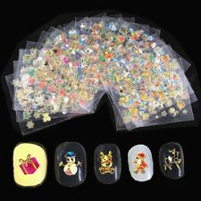 Christmas Nails Stickers Art Decorations Accessories DIY 24 Pcs Adhesives Decals
