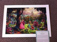 "Thomas Kinkade "" Sleeping Beauty "" Signed & Numbered Disney Lithograph 24x36"