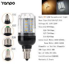 Dimmable E27 E12 E26 E14 LED Corn Bulb Light 9W 16W 20W 25W 30W Lamp 110V 220V