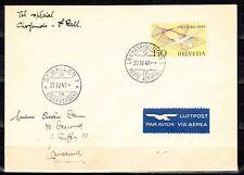 Schweiz  518 Pro Aero 1949 ,Flug La Chaux - St.Galllen, sauber gestempelt