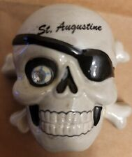 """Agiftcorp Pirate Skull St Augustine Ceramic, Hinged - 3"""" Trinket Box. WoW !"""