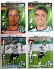 FUSSBALL 4 Sticker WM 2010, DFB - Team, FERRERO DUPLO, Deutschland Set 4, NEUW.