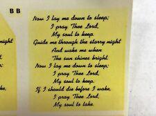 Ceramic decals Bedtime Prayer in script Lot of 30