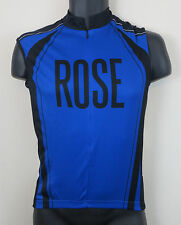 Cycling Bicycles Retro Jersey Top Rose Shirt Vest Blue Maillot Maglia S Small