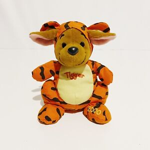 """Roo in Tigger Outfit Winnie The Pooh Disney Vintage 2000 7"""" Beanbag Plush Toy"""