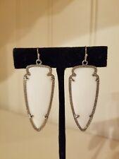 Pearl Silver Drop Earrings Rare Kendra Scott Skylar Mother of