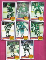 1980-81 OPC HARTFORD WHALERS EX-MT  CARD LOT (INV# C2007)