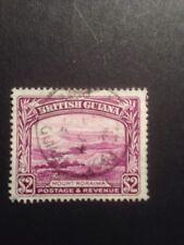 British Guiana 1938 SG 318a P 14x13 $2 Purple Fine Used