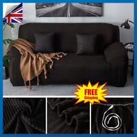Easy Fit Stretch Plush Velvet Couch Cover Recliner Loveseat Sofa Slipcover