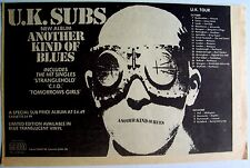 U.K. Subs 1979 Advert Another Kind Of Blues