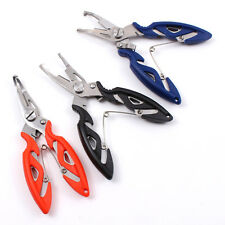 Stainless Steel Fishing Pliers Scissors Line Cutter Hook Remover Tool Tackle LJ