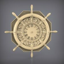 (892) STL Model Clock for CNC Router 3D Printer  Artcam Aspire Bas Relief