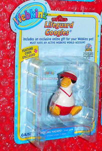 WEBKINZ  Lifeguard Googles   figure   Series 2   Ganz