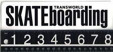 TRANSWORLD SKATEBOARDING STICKER 8.25 in x 2.1 in Transworld Skateboarding Decal