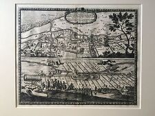 Castellum ad Butzfliet // Castellum vulgo Kruck Schanz Antique Map 1696 Polish