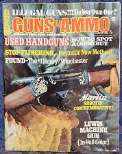 Vintage Magazine GUNS & AMMO August 1970 !!! WEBLEY & SCOTT SHOTGUNS !!!