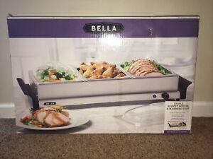 Bella Cucina Triple Buffet Server & Warming Tray Entertaining Series NIB