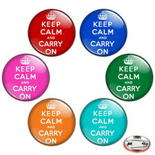"Keep Calm & Carry On 1.25"" Pinback Button BADGE SET Novelty Gift Pins 32 mm"