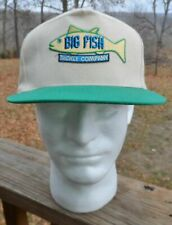RARE vintage Big Fish Tackle Company cotton snapback fishing cap hat NEW by KC