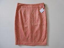 NWT Calvin Klein Porcelain Rose & Bellini Combo Jacquard Straight Pencil Skirt 6