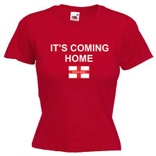 It's Coming Home England World Cup 2018 Inspired Ladies Womens Lady Fit T Shirt