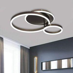Modern LED Ceiling Light,52W 3-Rings Chandelier Ceiling Lamp Aluminum Acrylic